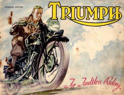 Vintage Triumph Motorcycle Ads