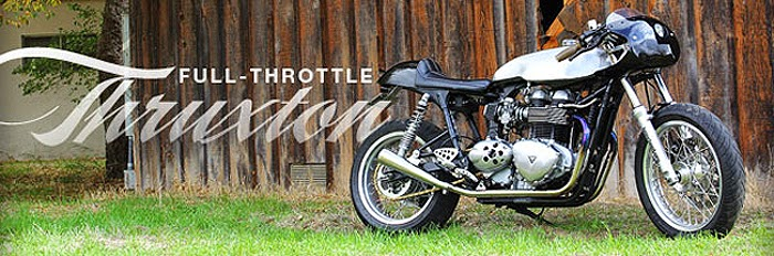 I Present To You Today A Very Badass Custom 2006 Triumph Thruxton Cafe Racer For Sale This Bike Is Located In San Diego And Comes From Our Friends
