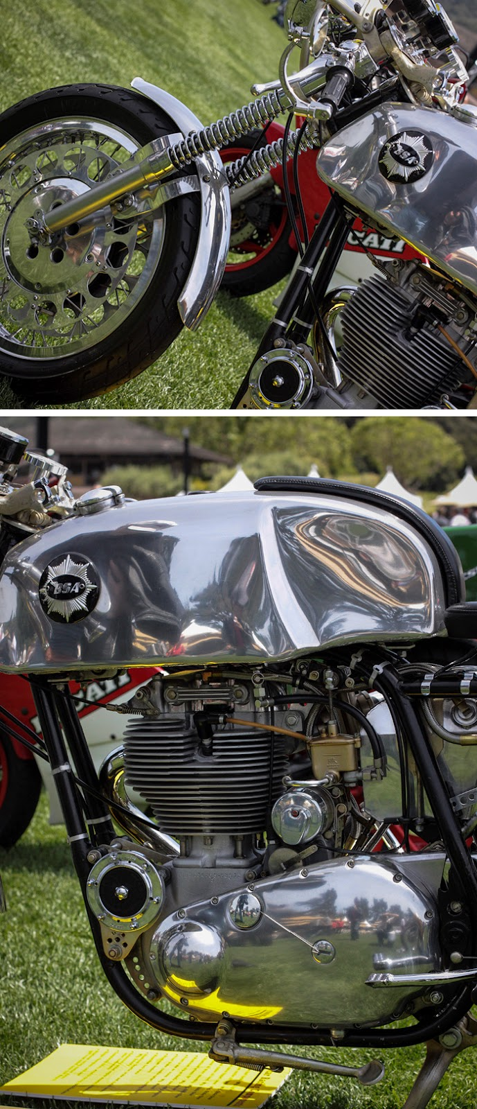 Custom BSA motorcycle - the Quail Motorcycle Gathering