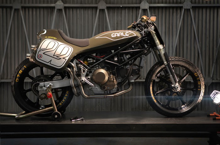 Killer Custom Ducati Monster Tracker