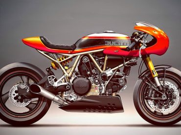 Ducati cafe racers by Holographic Hammer