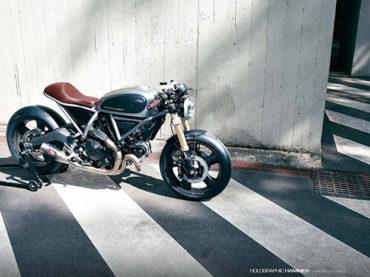 Custom Ducati Scrambler by Holographic Hammer