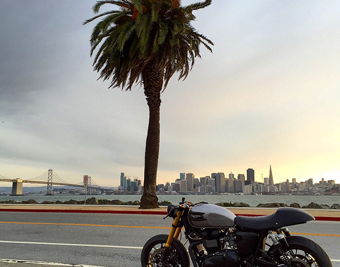 Cafe racer, San Francisco, Triumph