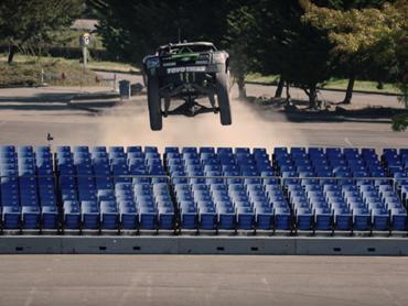 Watch BJ Baldwin jump his 800hp Trophy Truck like a dirtbike