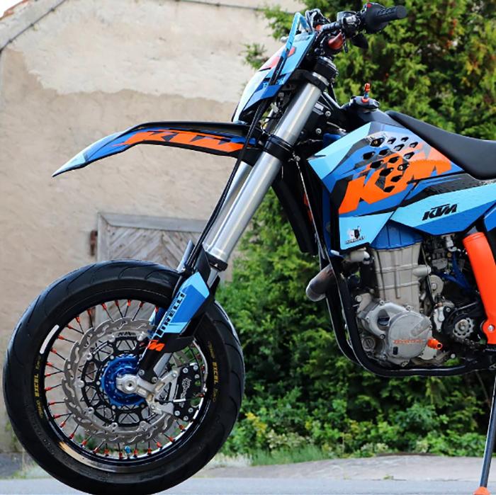 Supermoto dreaming :: Jan R's KTM 450 EXC - The Bullitt