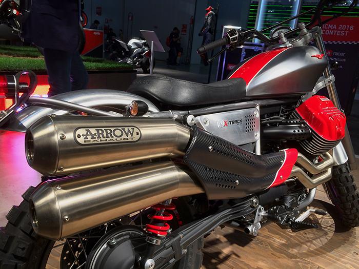 Moto Guzzi V9 X-Track Arrow exhaust