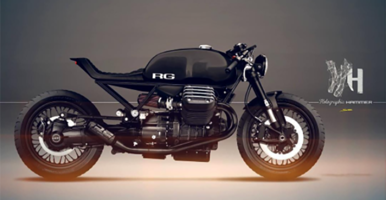 Moto Guzzi cafe racers by Holographic Hammer