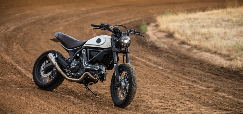 Motodemic, custom Ducati Scrambler, street tracker,