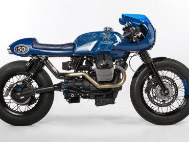 Vanguard Moto Guzzi V7 Cafe Racer: Jean-Inspired Anniversary Bike