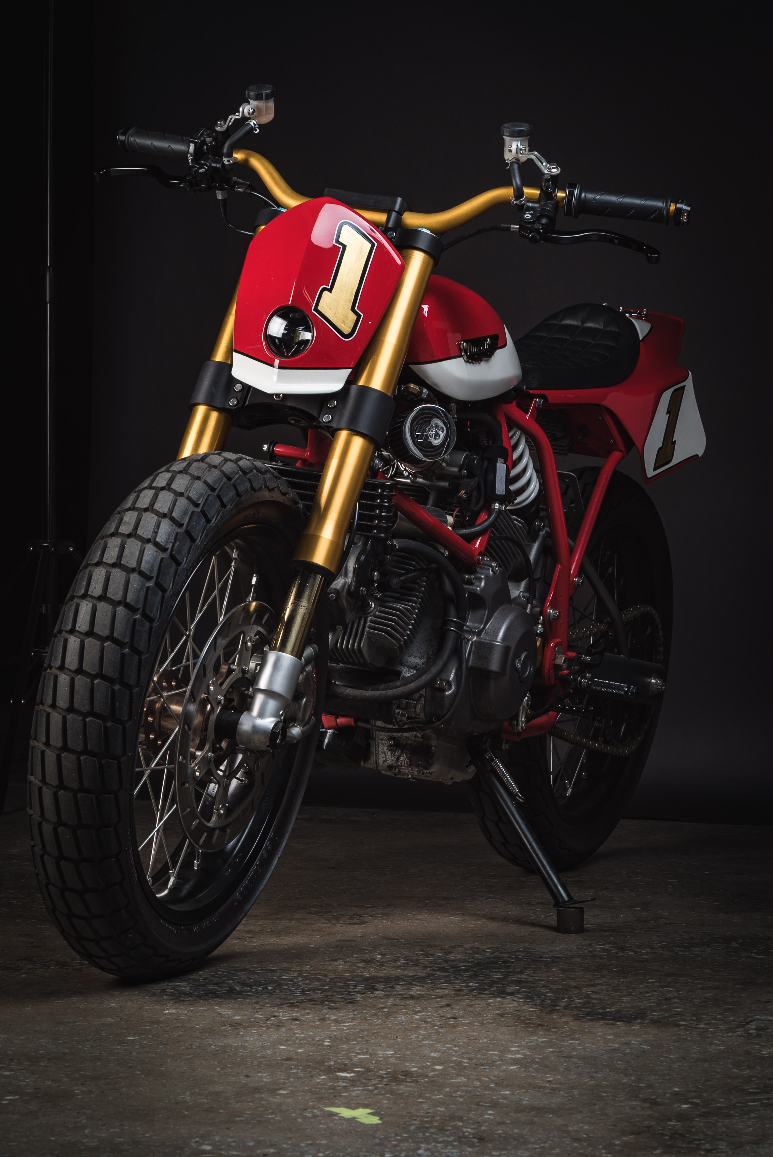 Fuller Moto Ducati Tracker - Ohlins suspension