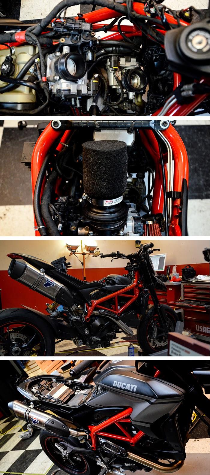 Ducati Hypermotard SP Termignoni install