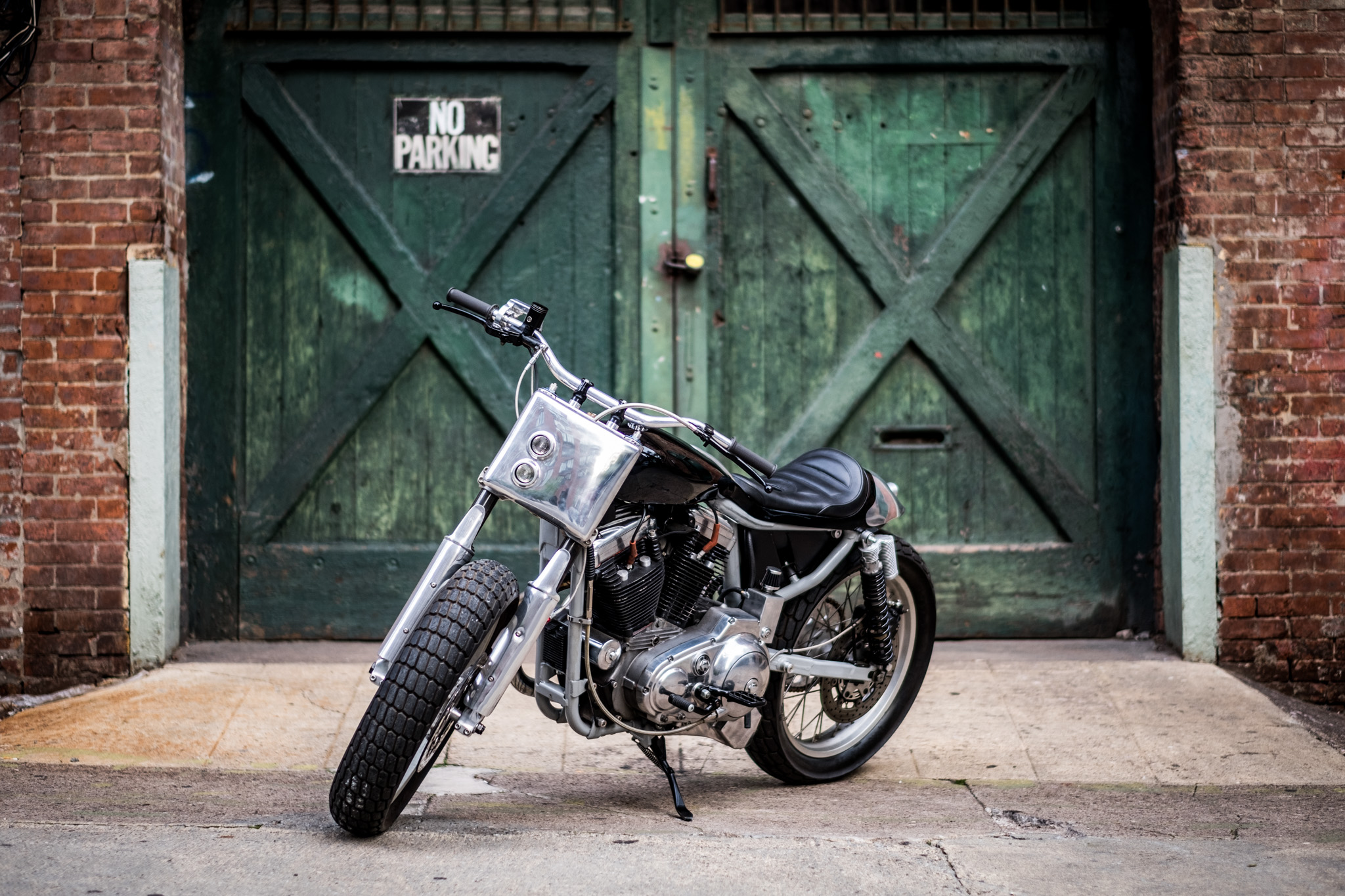 Tim Harney Motorcycles, Custom motorcycle, street tracker, Harley XL 883