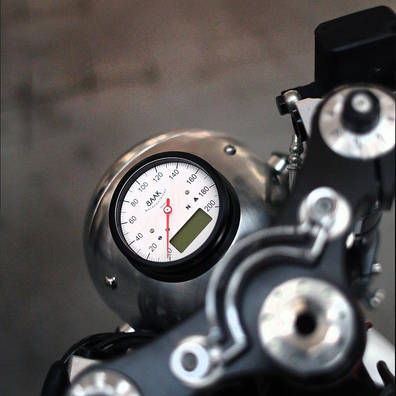 Custom speedometer, moto guzzi, cafe racer