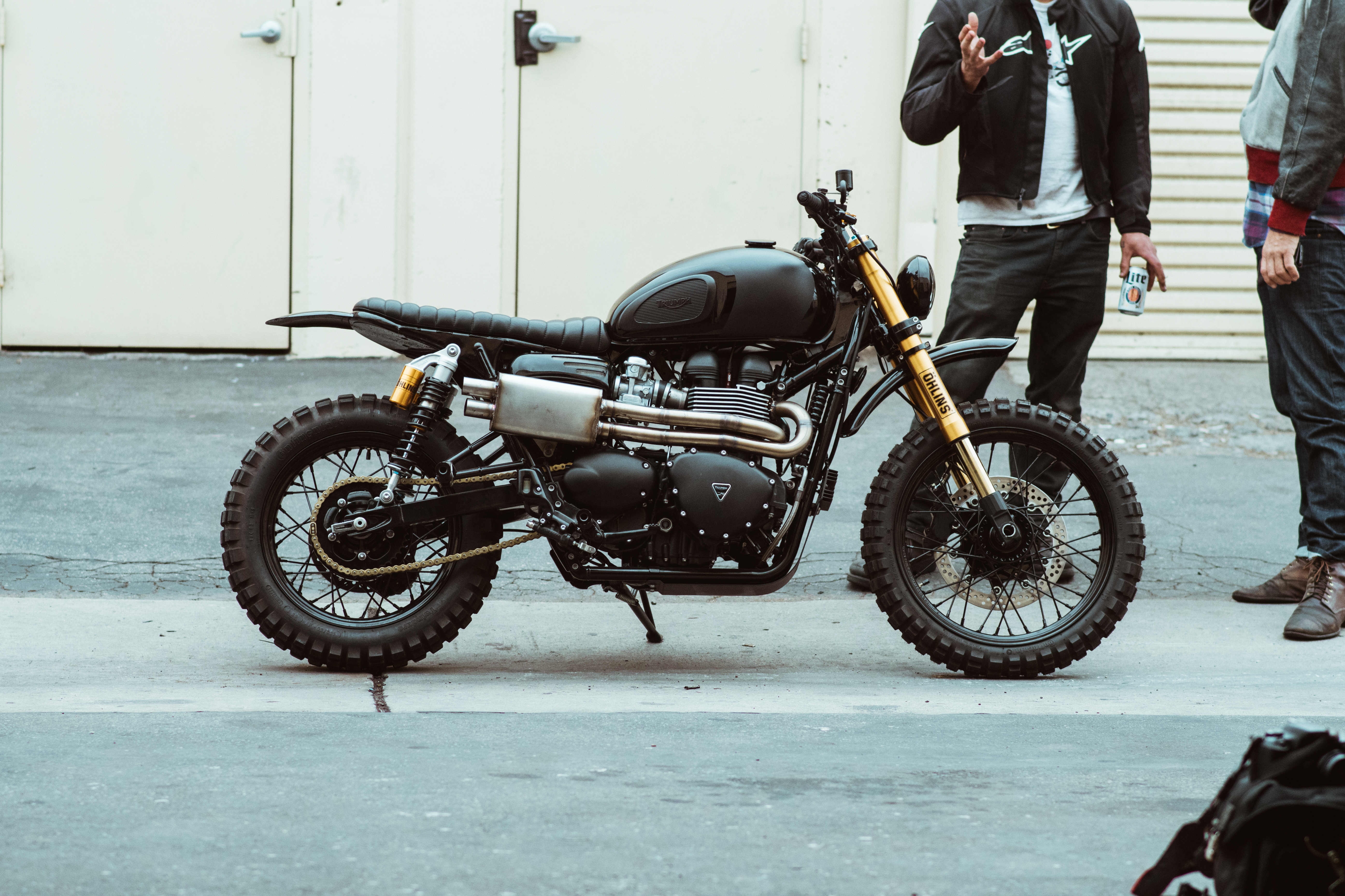 Rugged And Raw A Triumph Scrambler By Seaweed And Gravel The Bullitt