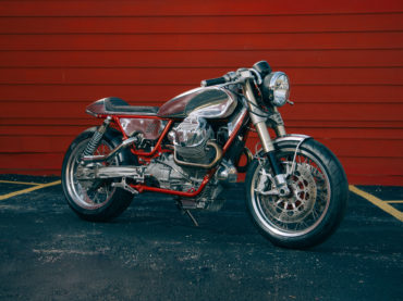 Craig Rodsmith's turbocharged Moto Guzzi V9 Pro Build