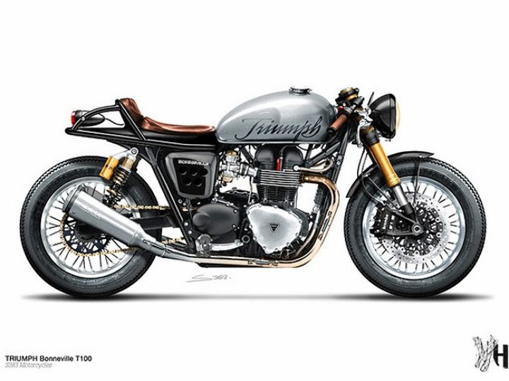 Triumph Cafe Racers by Holographic Hammer