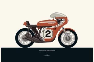 Motorcycle Illustrations by Francis Ooi