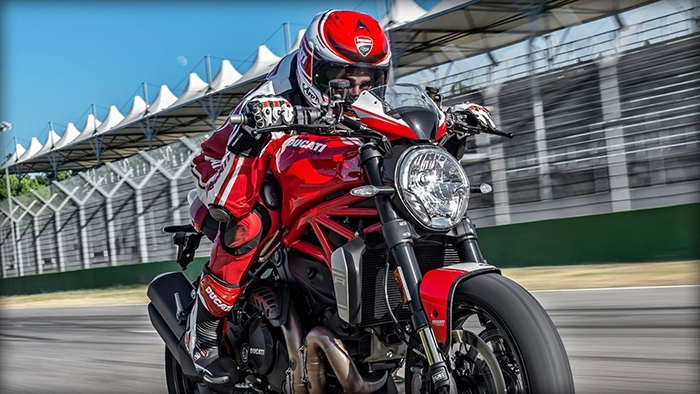 Ducati Monster 1200 R on track