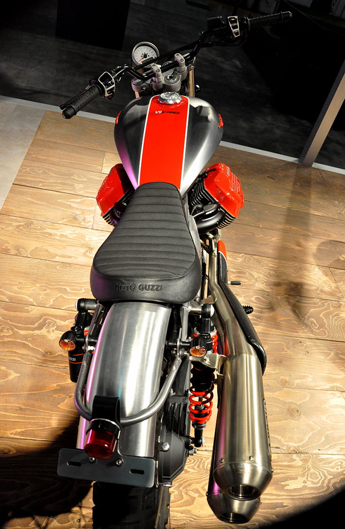 Moto Guzzi V9 X-Track top view