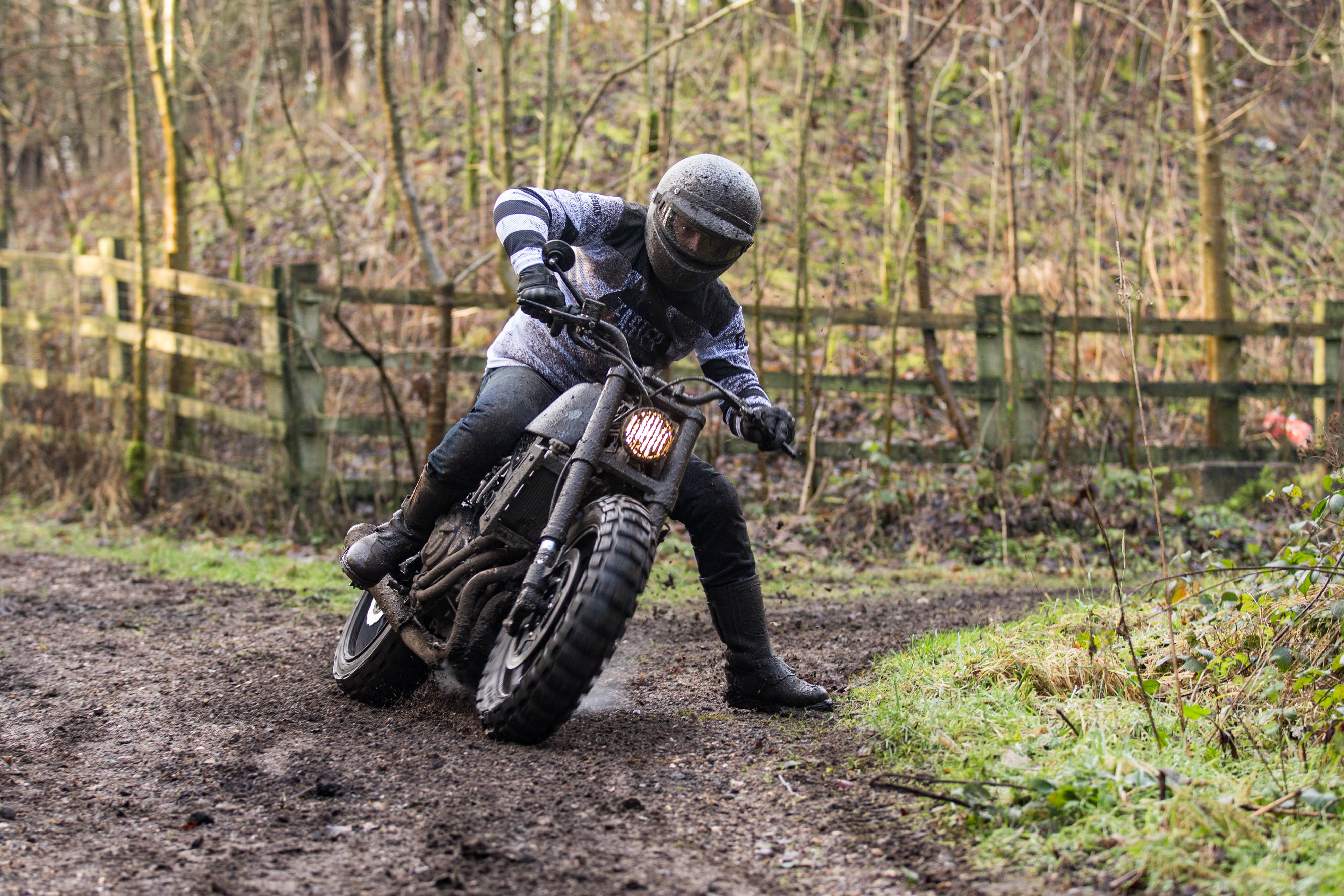 Rough crafts XSR700 scrambler in action