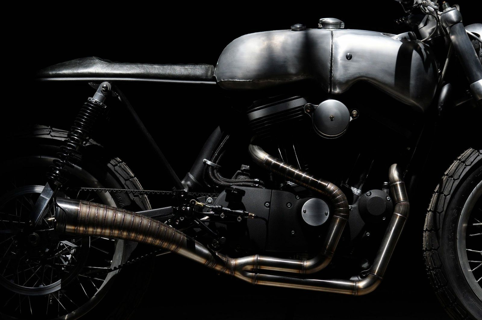 The Hardley custom Harley-Davidson by Revival Cycles exhaust
