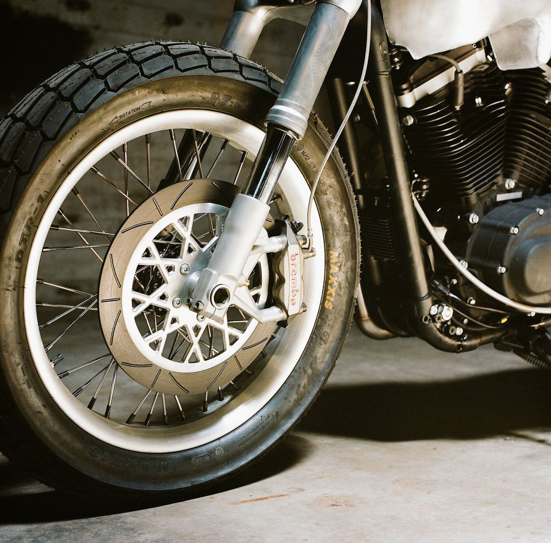 Custom Harley Davidson The Hardley dirt tracker wheels