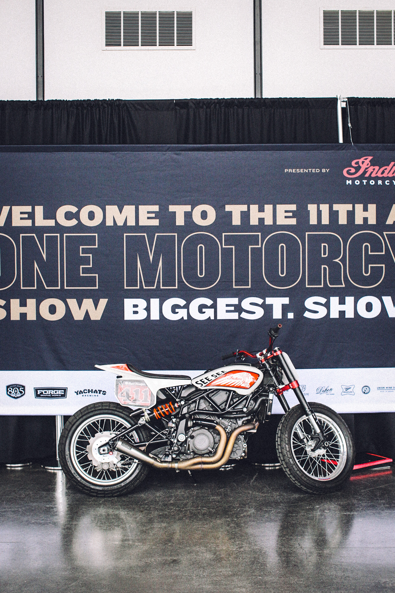 Indian Hooligan racer at The One Motorcycle Show