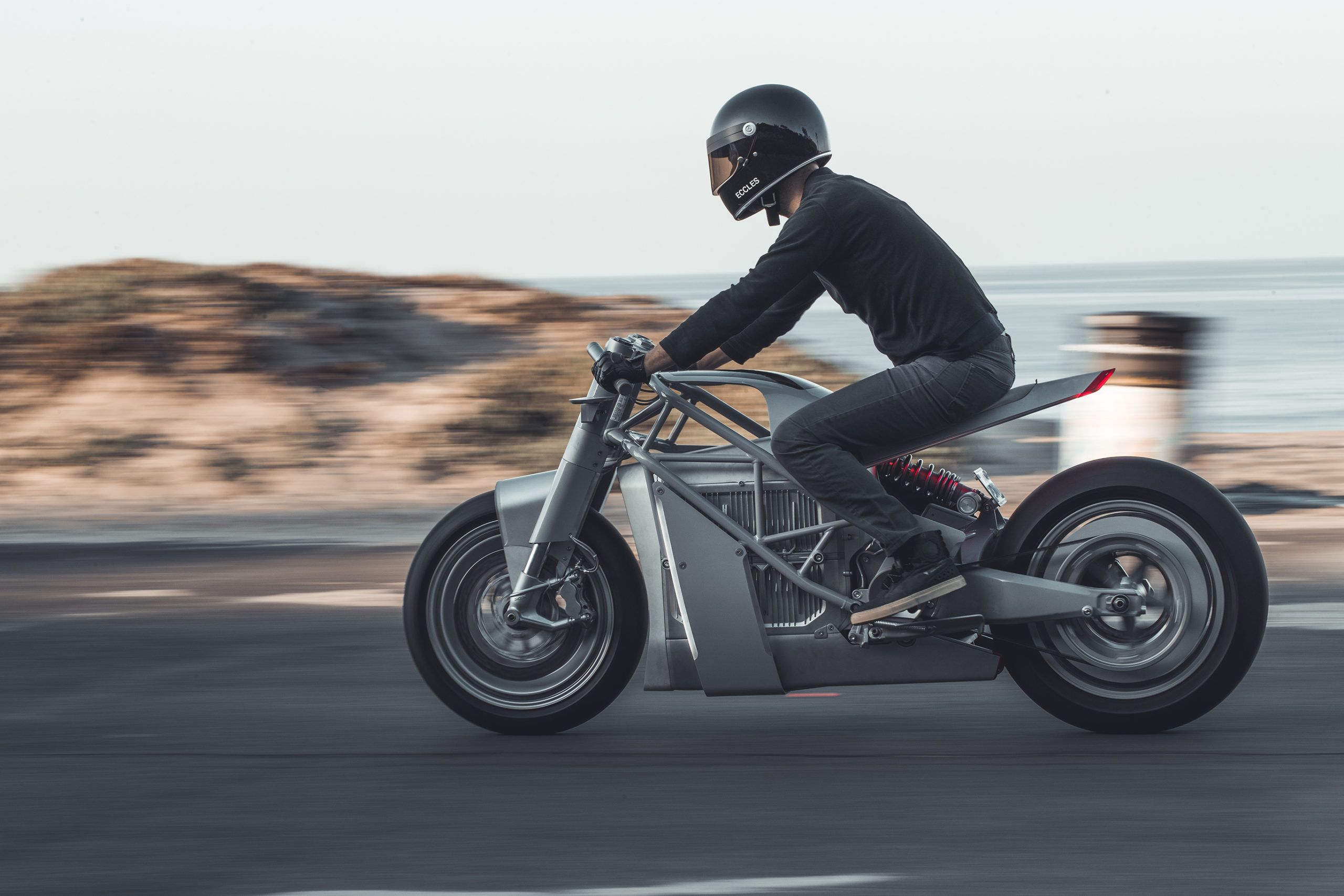 Hugo Eccles custom Zero XP electric motorcycle
